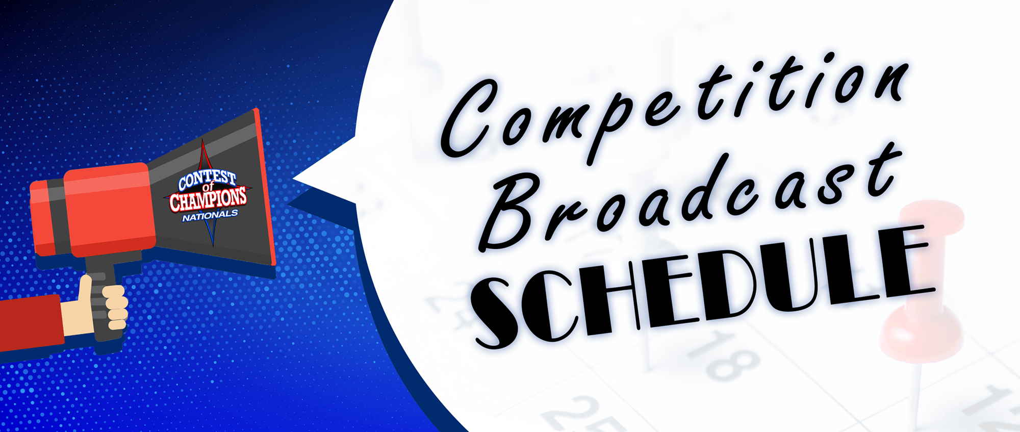 Contest of Champions Competition Broadcast Schedule Announcement